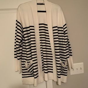 LOFT striped cardigan size XL NWOT